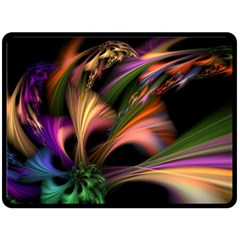 Color Burst Abstract Fleece Blanket (large)  by Onesevenart