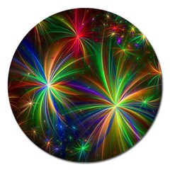 Colorful Firework Celebration Graphics Magnet 5  (round) by Onesevenart