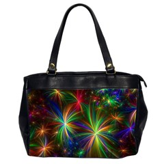 Colorful Firework Celebration Graphics Office Handbags (2 Sides)  by Onesevenart