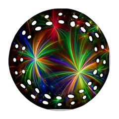 Colorful Firework Celebration Graphics Ornament (round Filigree) by Onesevenart