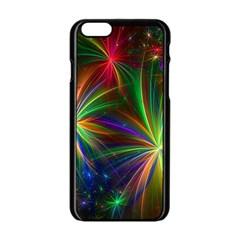 Colorful Firework Celebration Graphics Apple iPhone 6/6S Black Enamel Case by Onesevenart