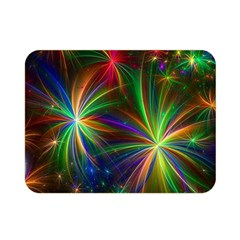 Colorful Firework Celebration Graphics Double Sided Flano Blanket (mini)  by Onesevenart