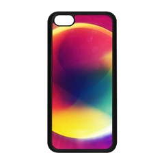 Colorful Glowing Apple Iphone 5c Seamless Case (black) by Onesevenart
