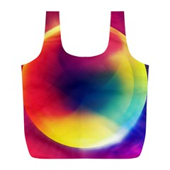 Colorful Glowing Full Print Recycle Bags (l)  by Onesevenart