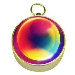Colorful Glowing Gold Compasses