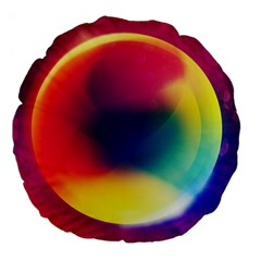 Colorful Glowing Large 18  Premium Flano Round Cushions by Onesevenart