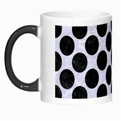 Circles2 Black Marble & White Marble (r) Morph Mug by trendistuff