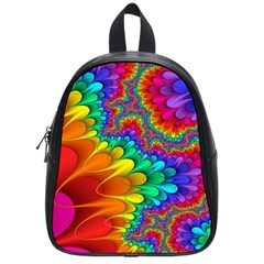 Colorful Trippy School Bags (small)  by Onesevenart