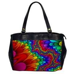 Colorful Trippy Office Handbags by Onesevenart