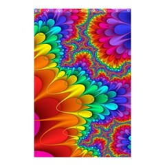 Colorful Trippy Shower Curtain 48  X 72  (small)  by Onesevenart