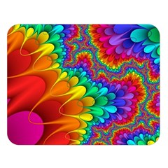 Colorful Trippy Double Sided Flano Blanket (large)  by Onesevenart