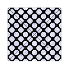 Circles2 Black Marble & White Marble Acrylic Tangram Puzzle (6  X 6 ) by trendistuff