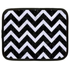 Chevron9 Black Marble & White Marble Netbook Case (xxl) by trendistuff