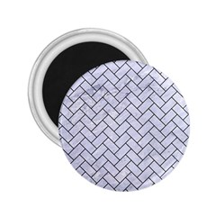 Brick2 Black Marble & White Marble (r) 2 25  Magnet by trendistuff