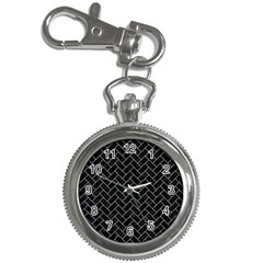Brick2 Black Marble & White Marble Key Chain Watch by trendistuff
