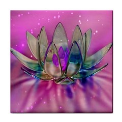 Crystal Flower Tile Coasters by Onesevenart