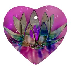 Crystal Flower Heart Ornament (two Sides) by Onesevenart