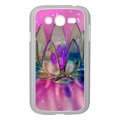 Crystal Flower Samsung Galaxy Grand Duos I9082 Case (white) by Onesevenart