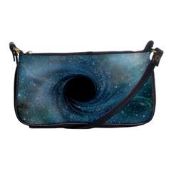 Cosmic Black Hole Shoulder Clutch Bags by Onesevenart