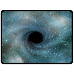 Cosmic Black Hole Double Sided Fleece Blanket (large)  by Onesevenart