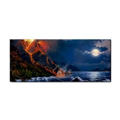 Eruption Of Volcano Sea Full Moon Fantasy Art Cosmetic Storage Cases by Onesevenart