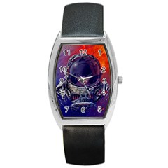 Eve Of Destruction Cgi 3d Sci Fi Space Barrel Style Metal Watch by Onesevenart