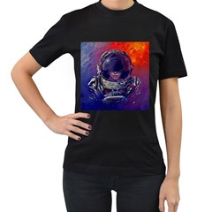 Eve Of Destruction Cgi 3d Sci Fi Space Women s T Shirt (black) (two Sided) by Onesevenart