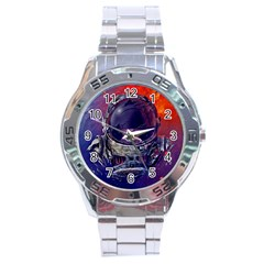 Eve Of Destruction Cgi 3d Sci Fi Space Stainless Steel Analogue Watch by Onesevenart