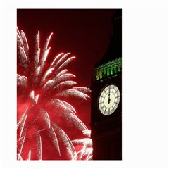 Fireworks Explode Behind The Houses Of Parliament And Big Ben On The River Thames During New Year's Small Garden Flag (two Sides) by Onesevenart