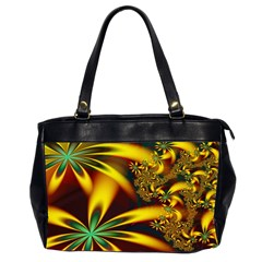 Floral Design Computer Digital Art Design Illustration Office Handbags (2 Sides)  by Onesevenart