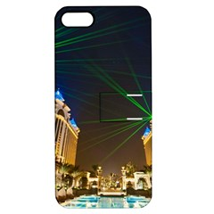Galaxy Hotel Macau Cotai Laser Beams At Night Apple Iphone 5 Hardshell Case With Stand by Onesevenart
