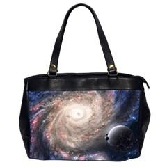 Galaxy Star Planet Office Handbags (2 Sides)  by Onesevenart