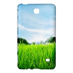 Green Landscape Green Grass Close Up Blue Sky And White Clouds Samsung Galaxy Tab 4 (8 ) Hardshell Case  by Onesevenart