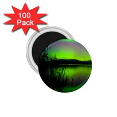 Green Northern Lights Canada 1 75  Magnets (100 Pack)  by Onesevenart