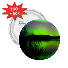 Green Northern Lights Canada 2 25  Buttons (100 Pack)  by Onesevenart