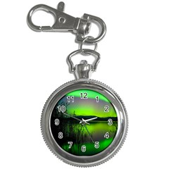 Green Northern Lights Canada Key Chain Watches by Onesevenart