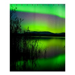 Green Northern Lights Canada Shower Curtain 60  X 72  (medium)  by Onesevenart
