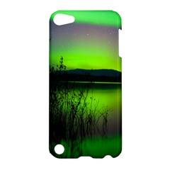 Green Northern Lights Canada Apple Ipod Touch 5 Hardshell Case by Onesevenart