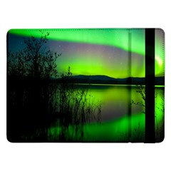 Green Northern Lights Canada Samsung Galaxy Tab Pro 12 2  Flip Case by Onesevenart
