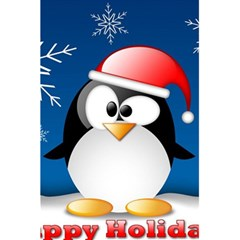 Happy Holidays Christmas Card With Penguin 5 5  X 8 5  Notebooks