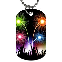 Happy New Year 2017 Celebration Animated 3d Dog Tag (two Sides) by Onesevenart