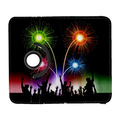 Happy New Year 2017 Celebration Animated 3d Galaxy S3 (flip/folio) by Onesevenart