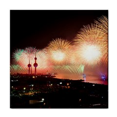 Kuwait Liberation Day National Day Fireworks Face Towel by Onesevenart