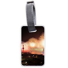 Kuwait Liberation Day National Day Fireworks Luggage Tags (one Side)  by Onesevenart