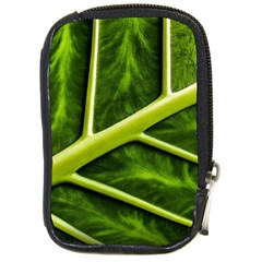 Leaf Dark Green Compact Camera Cases by Onesevenart