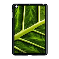 Leaf Dark Green Apple Ipad Mini Case (black) by Onesevenart