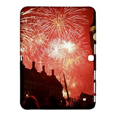 London Celebration New Years Eve Big Ben Clock Fireworks Samsung Galaxy Tab 4 (10 1 ) Hardshell Case  by Onesevenart