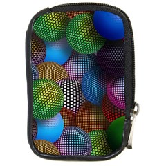 Multicolored Patterned Spheres 3d Compact Camera Cases by Onesevenart