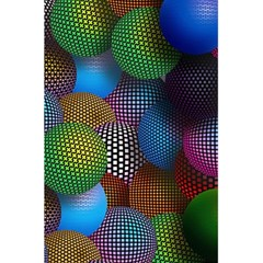 Multicolored Patterned Spheres 3d 5 5  X 8 5  Notebooks by Onesevenart