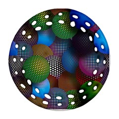 Multicolored Patterned Spheres 3d Ornament (round Filigree) by Onesevenart